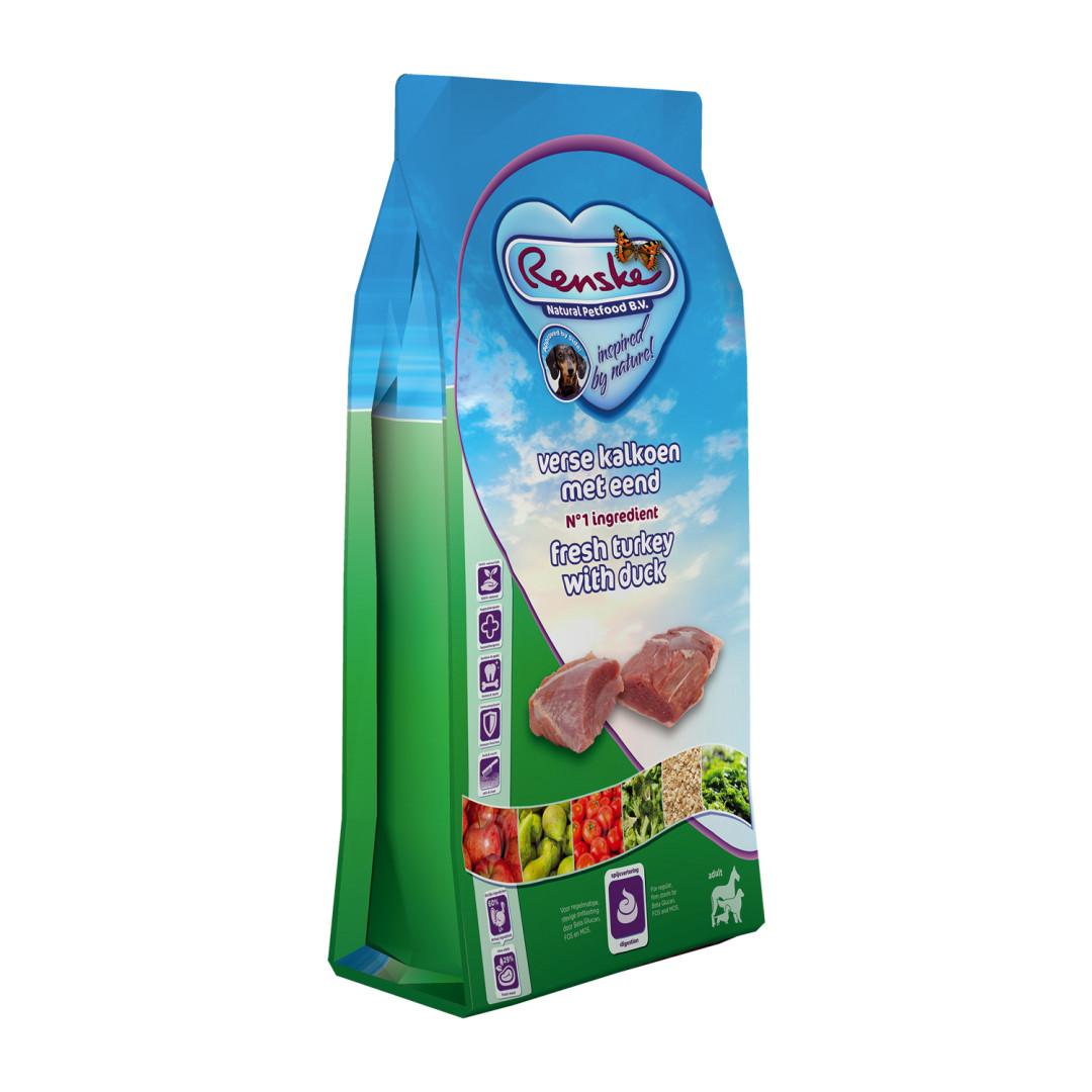 Renske hondenvoer Super Premium kalkoen & eend 12 kg