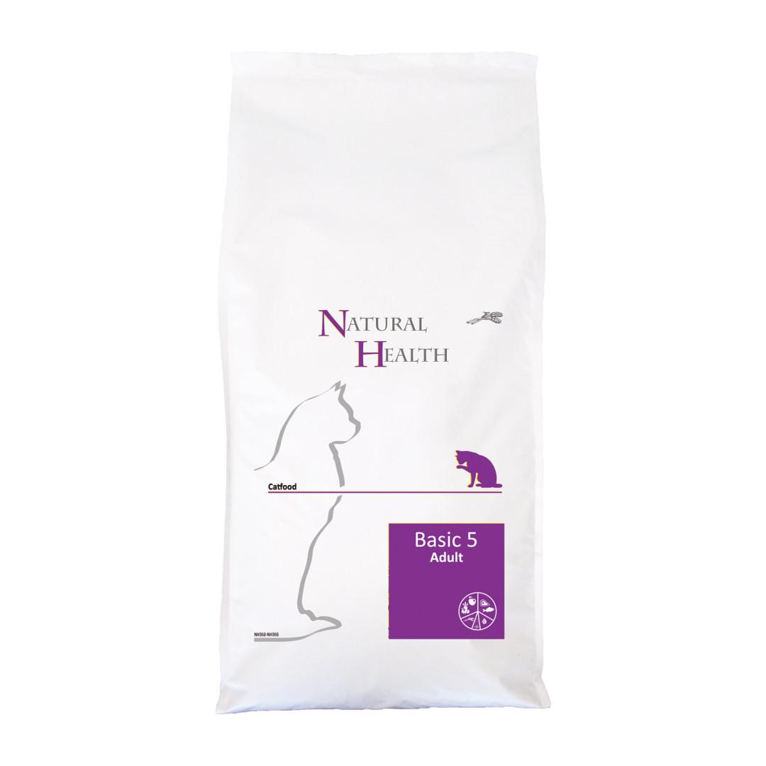 Natural Health kattenvoer Basic 5 <br>7,5 kg