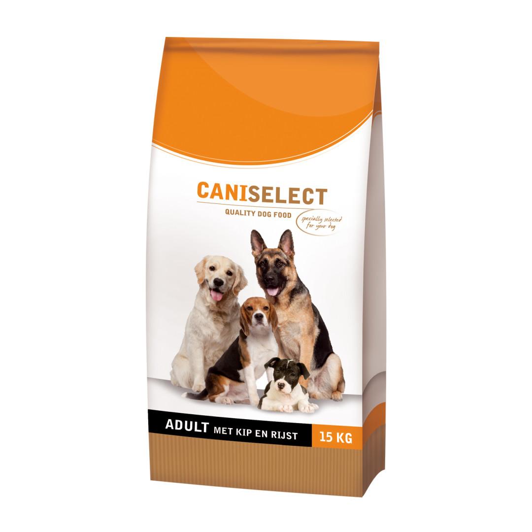 Caniselect hondenvoer Adult Kip & Rijst 15 kg