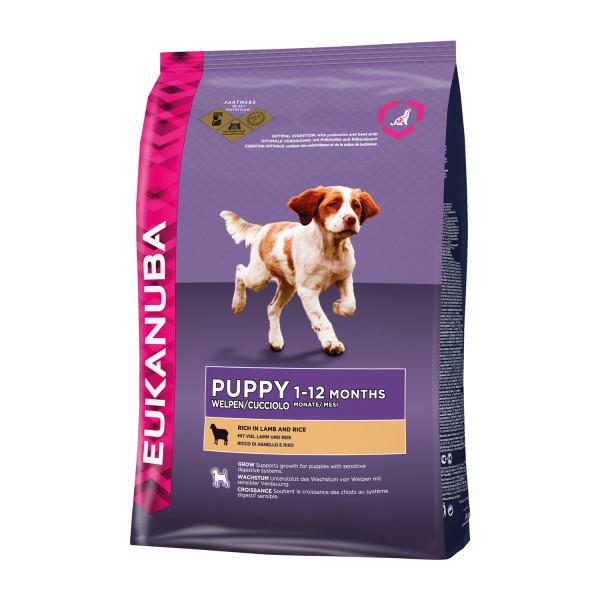 Eukanuba hondenvoer Puppy/Junior lamb & rice 12 kg