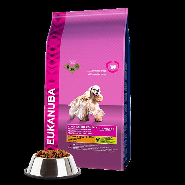 Eukanuba hondenvoer Medium Weight Control 12 kg