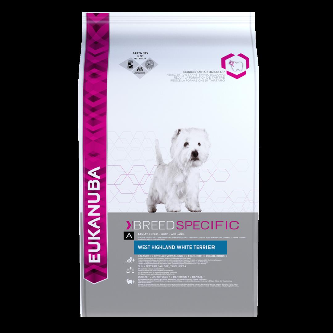 Eukanuba hondenvoer West Highland White Terrier Adult 2,5 kg