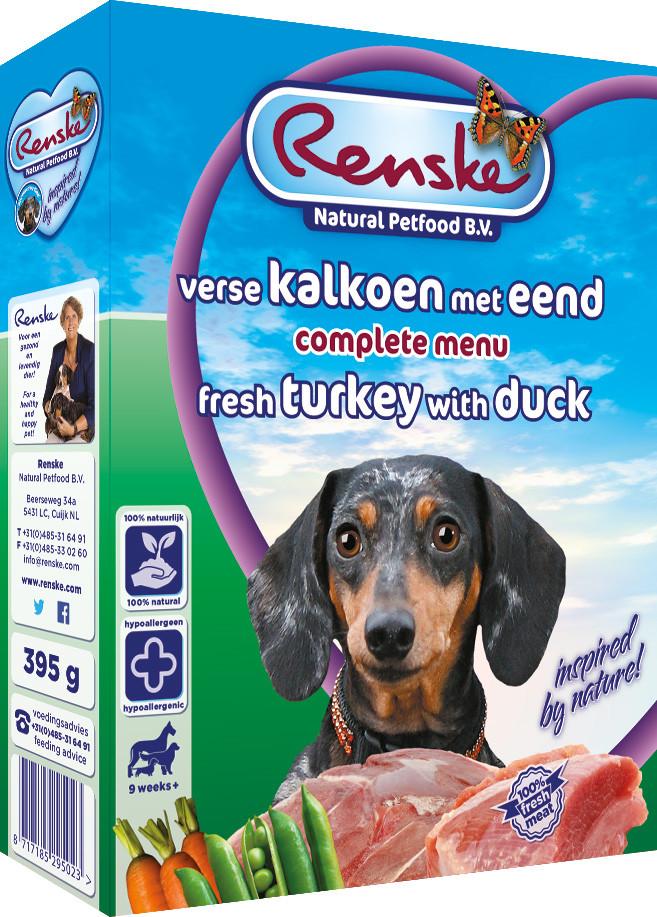 Renske Vers hondenvoer kalkoen & eend 395 gr