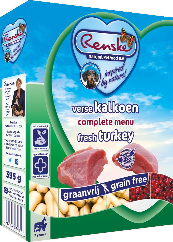 Renske Vers hondenvoer Senior 7+ Graanvrij 395 gr