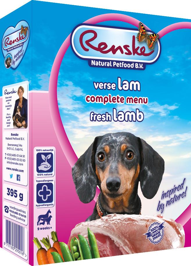 Renske Vers hondenvoer lam <br>395 gr