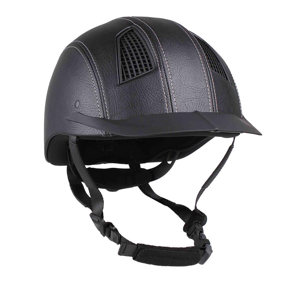 QHP Spartan rijhelm zwart