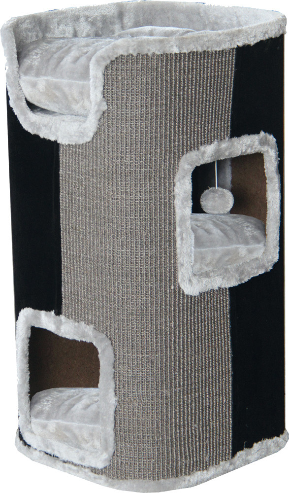 Krabtoren 75 cm grijs/zwart