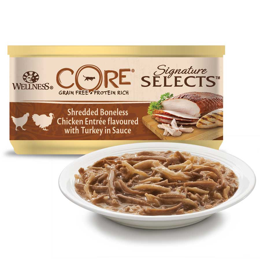 Wellness CORE Signature Selects Shredded kip/kalkoen 79 gr