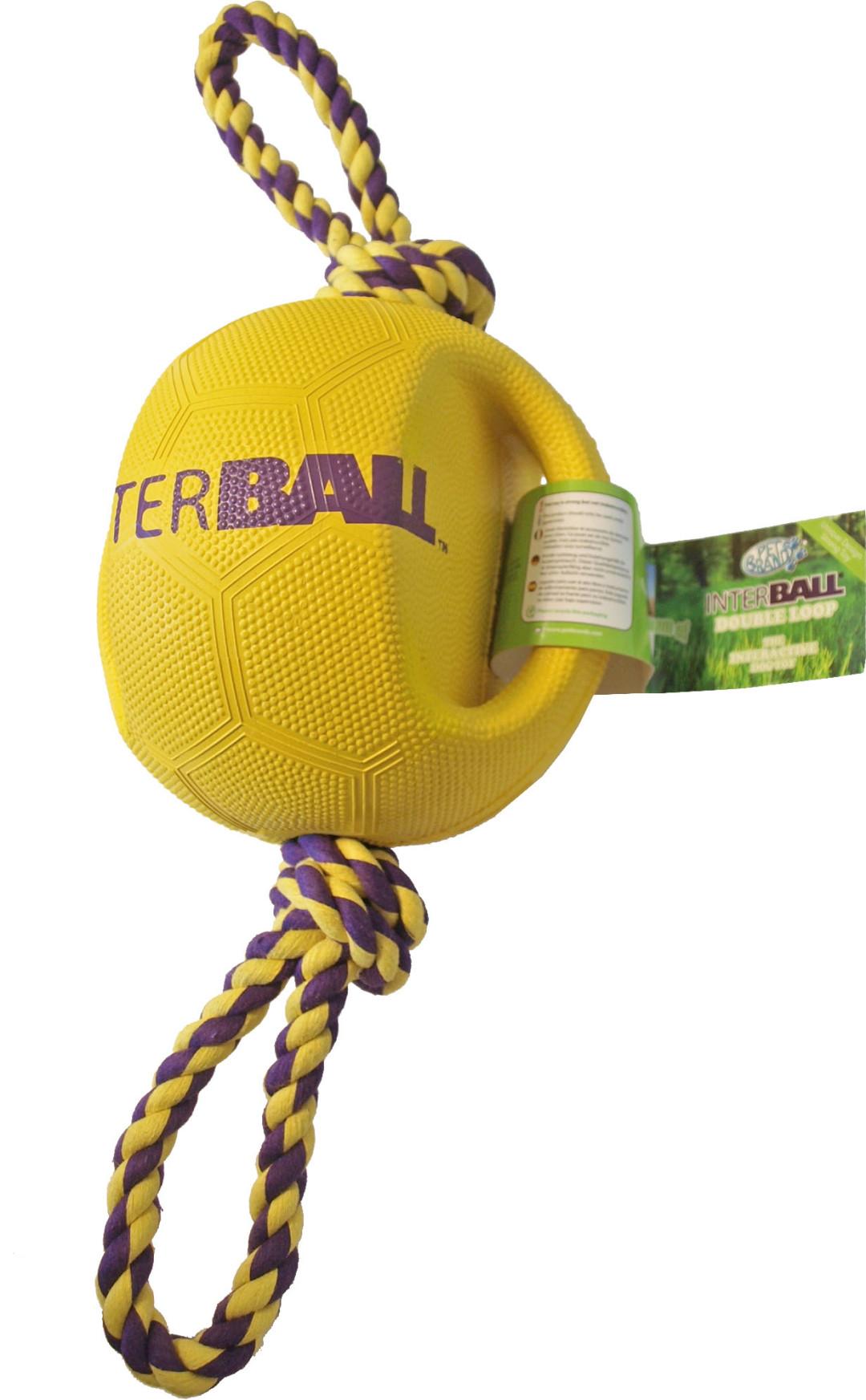 Hondenspeelbal Interball met touw