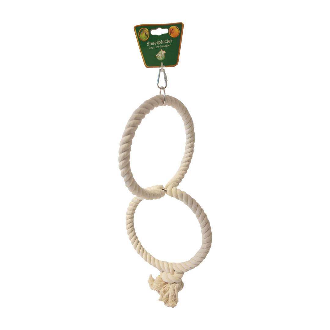 Katoenen touwring voor vogels 21 cm