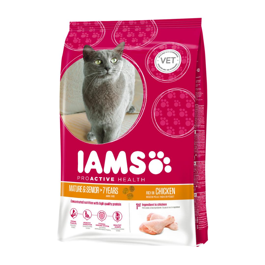 IAMS kattenvoer Mature & Senior Chicken 2,55 kg
