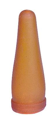 Lamspeen geel/bruin voor op bierfles