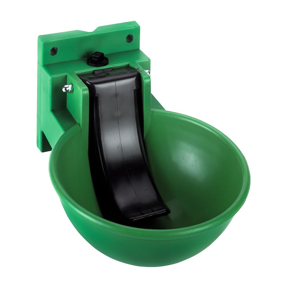 Drinkbak groen KS met lepel