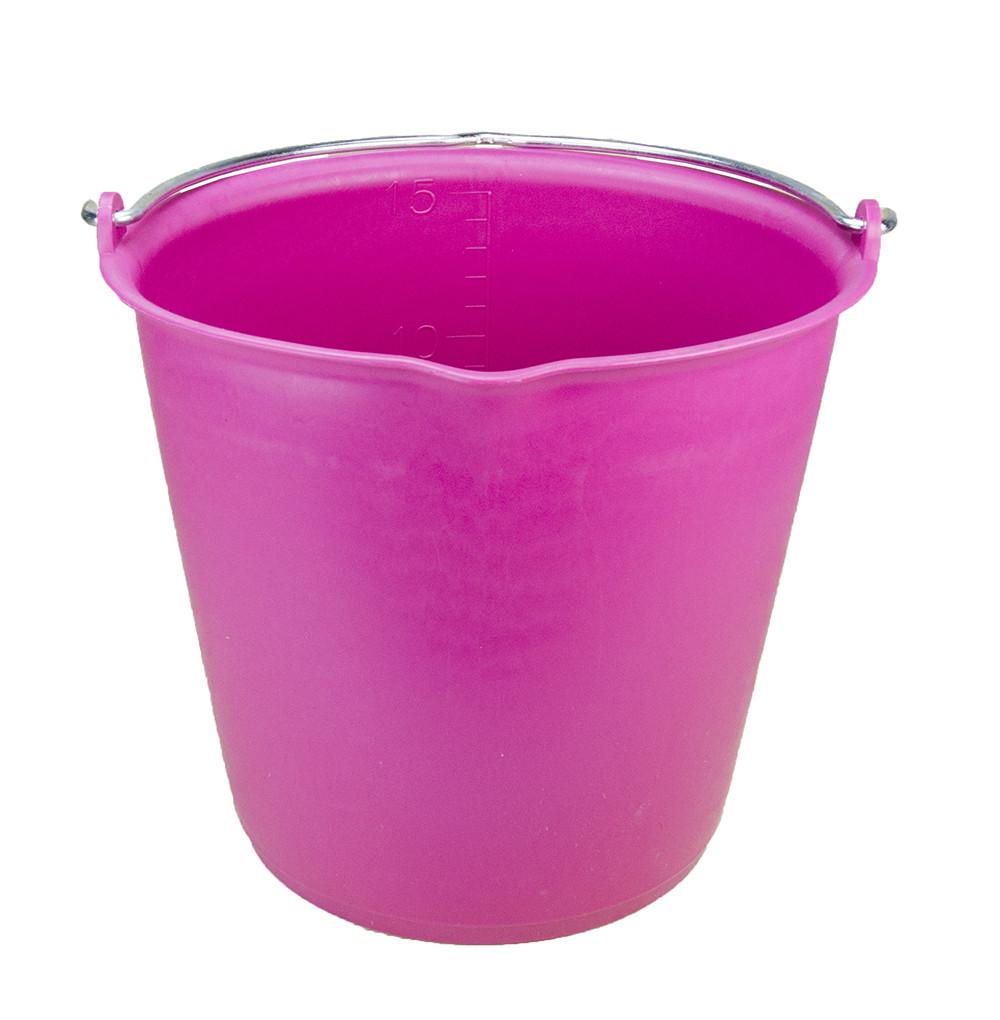 Emmer met schenktuit 15 ltr roze