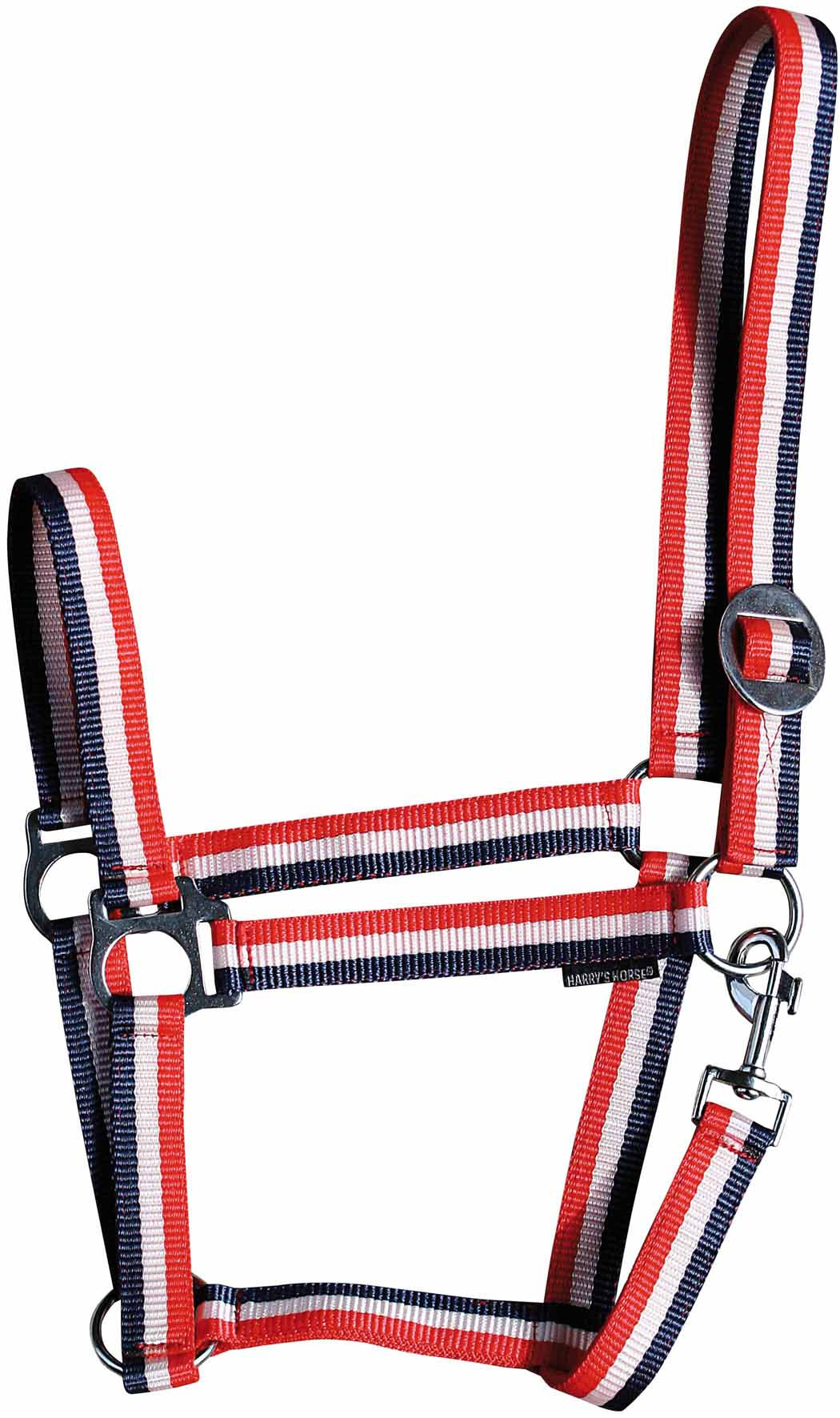 Harry's Horse halster Economy rood/wit/blauw