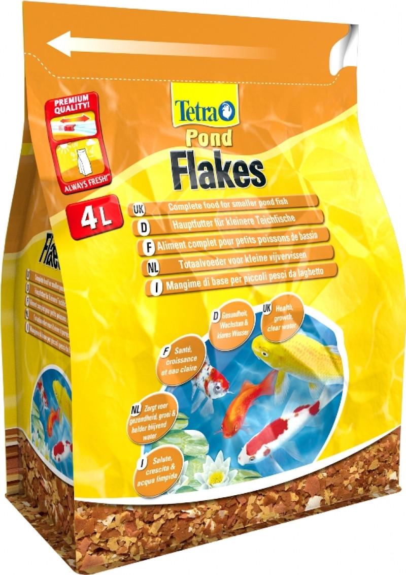 Tetra Pond Flakes <br>4 ltr