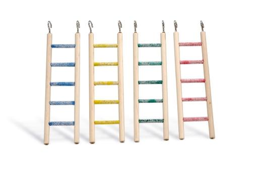 Beeztees Houten ladder, pedicure met 5 treden. 24 cm, assorti.