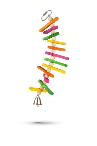 Beeztees Houten vogelspeelgoed Tikkie. Afmeting: 23cm.
