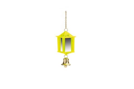 Beeztees Plastic spiegel met bel. Model lantaarn.