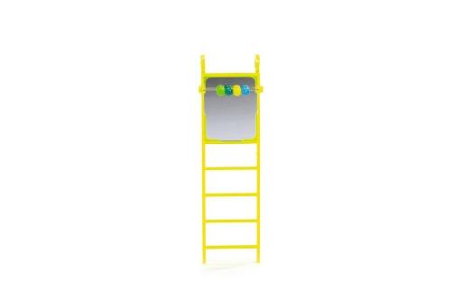 Beeztees Plastic ladder met spiegel en telraam.