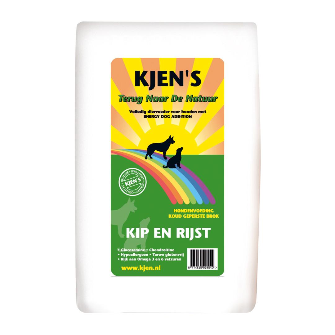 Kjen's hondenvoer kip & rijst 15 kg
