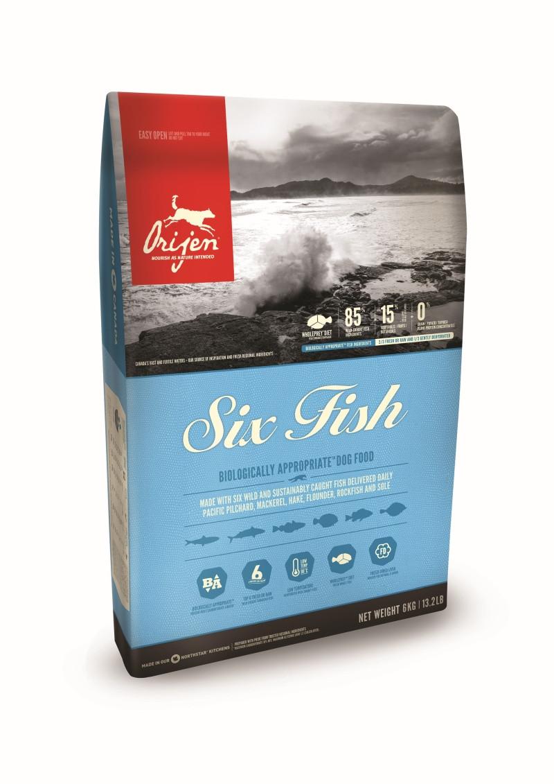Orijen hondenvoer <br>Six Fish 11,4 kg