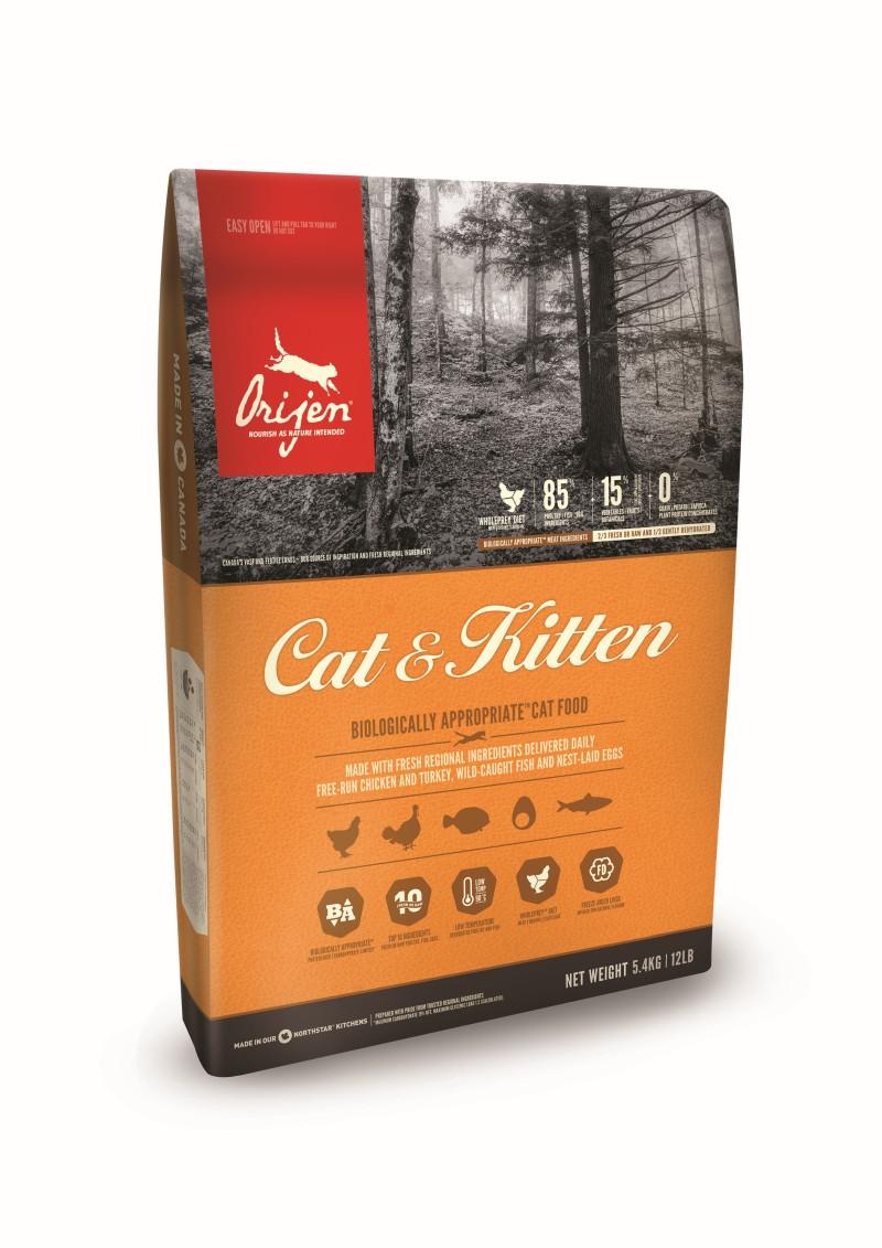 Orijen kattenvoer Cat & Kitten 5,4 kg