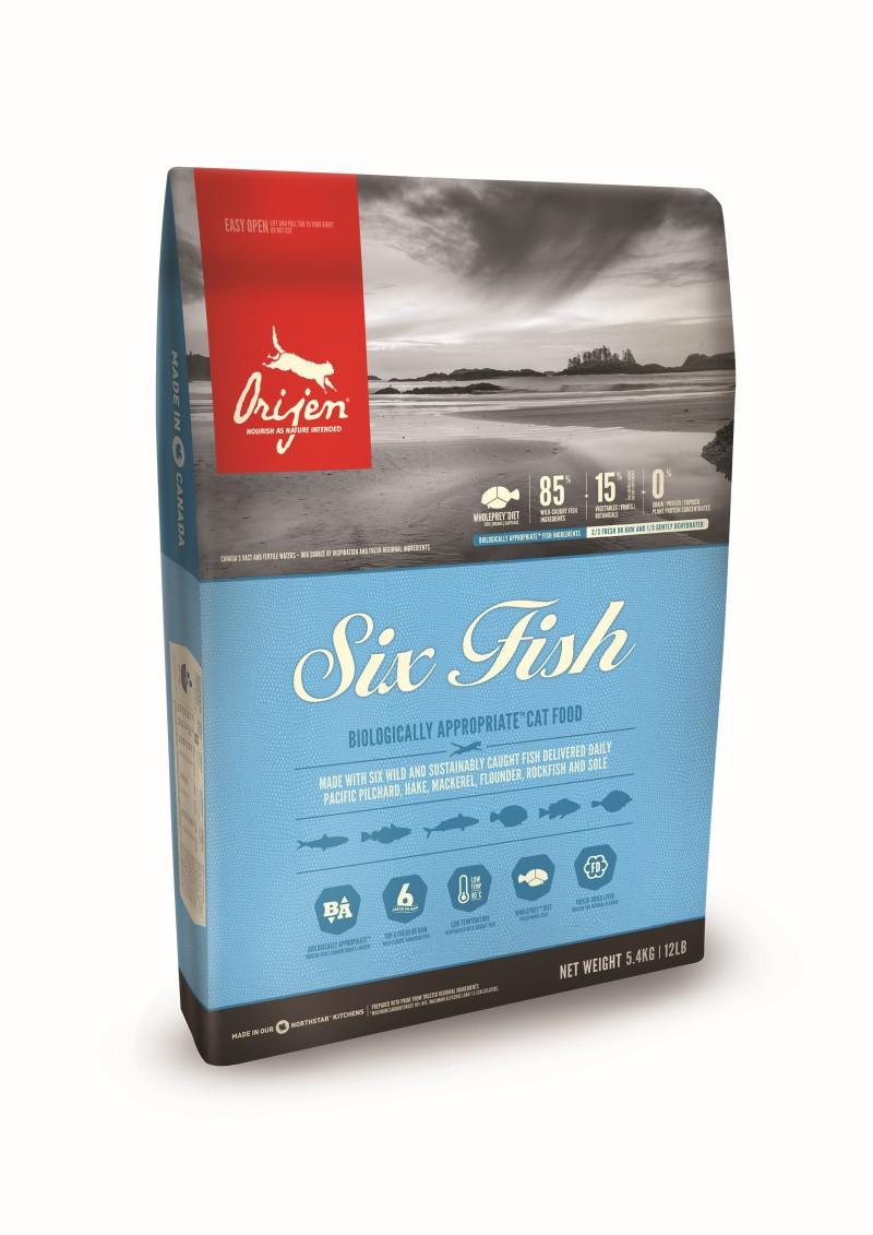 Orijen kattenvoer 6 Fish 5,4 kg