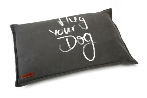 Beeztees loungekussen Hug Your Dog antraciet