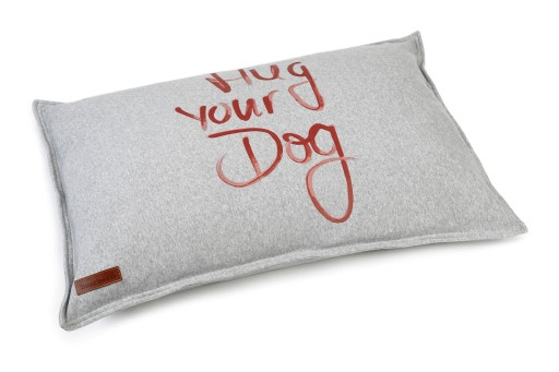 Beeztees loungekussen Hug Your Dog grijs