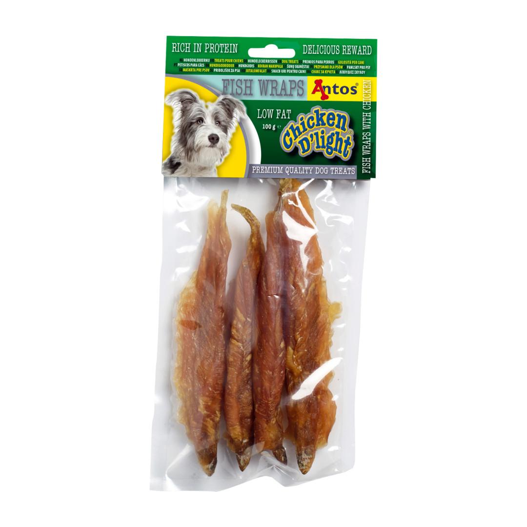 Antos Chicken D'Light Fish Wraps 100 gram