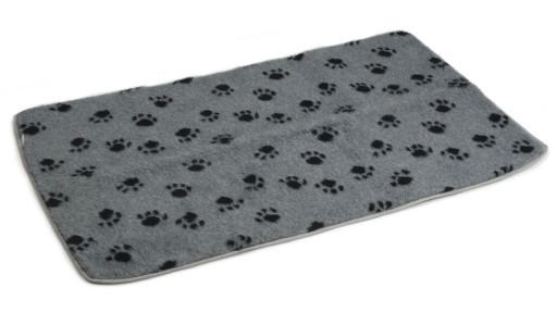 Beeztees vetbed bench grijs met voetprint
