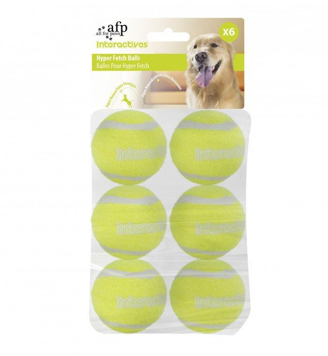 All for Paws Interactive Hyper Fetch Super Bounce Tennis Balls