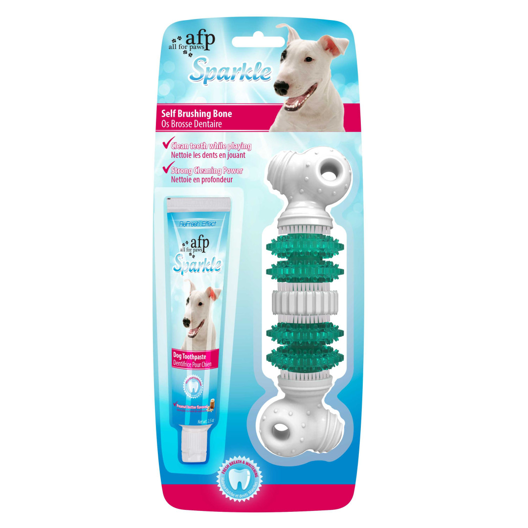 All for Paws Sparkle Easy Brush Bone