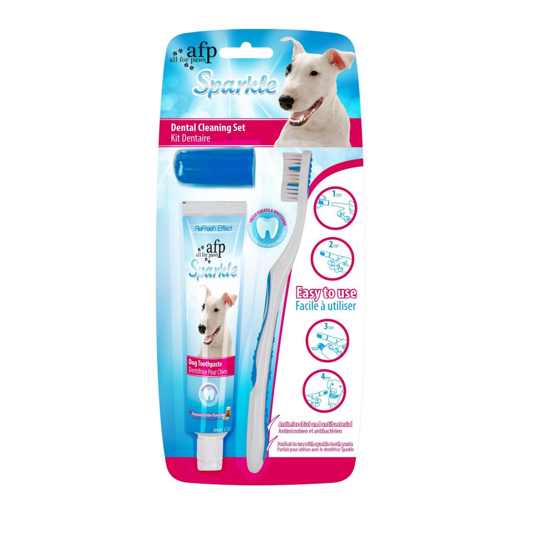 All for Paws Sparkle Combo Pack (Brush, Finger Brush)