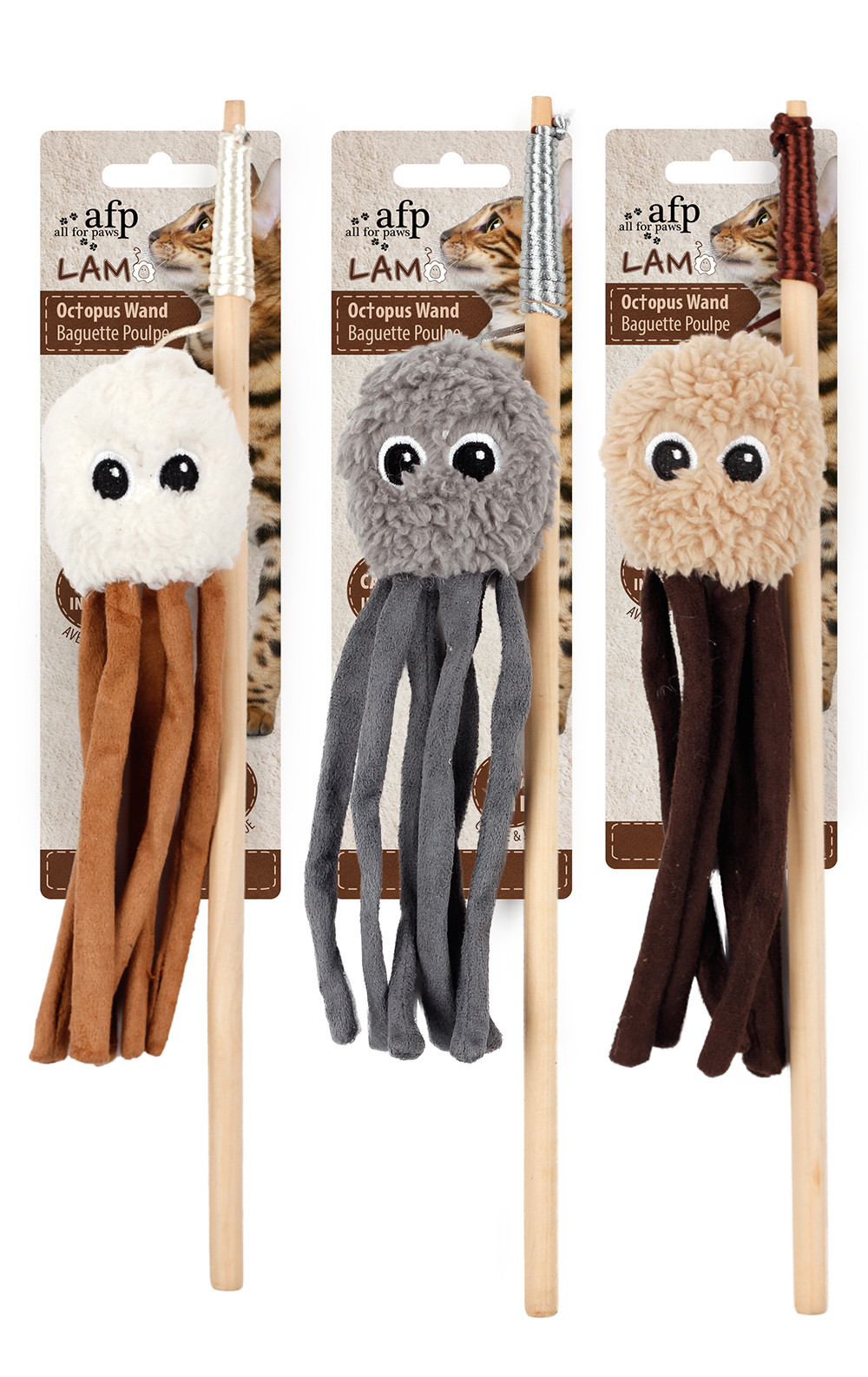All for Paws Lambswool-Octupus Wand
