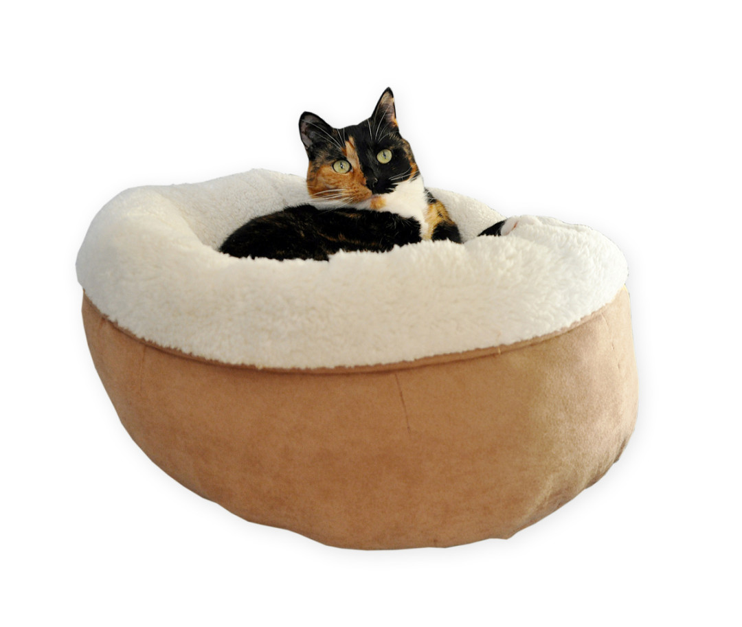 All for Paws Lambswool Donut Bed TAN