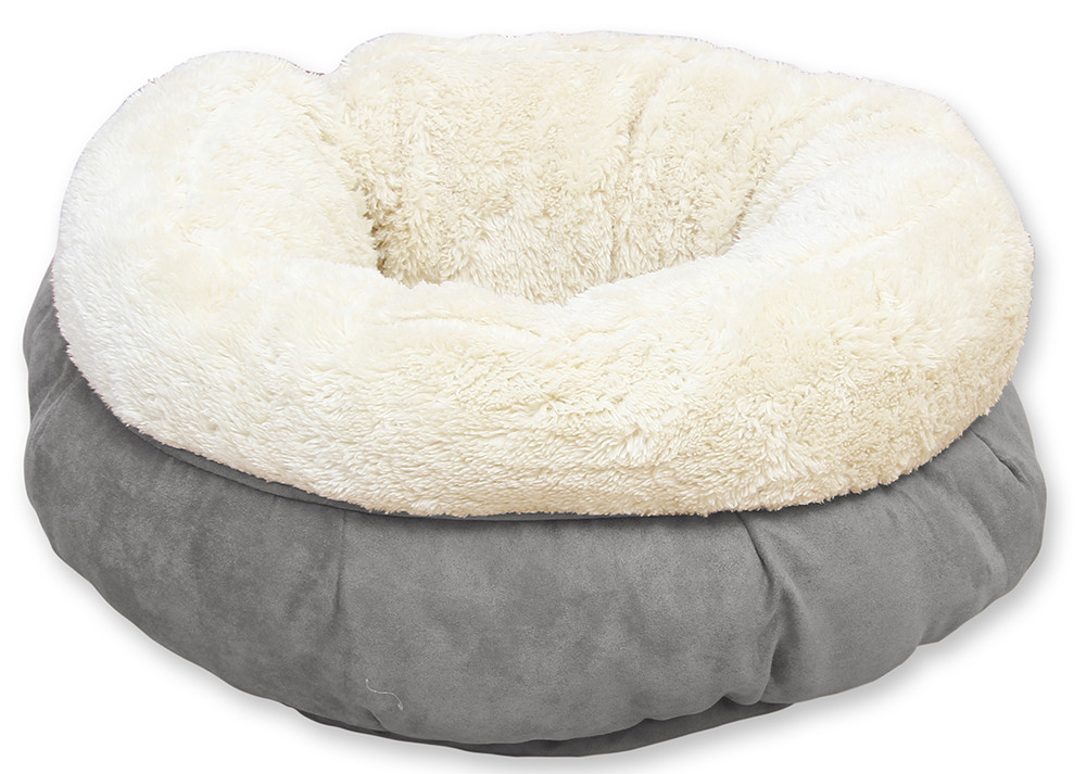 All for Paws Lambswool Donut Bed Grijs