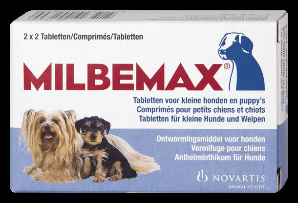 Milbemax tabletten kleine hond/puppy<br>0,5 - 10 kg 4 st