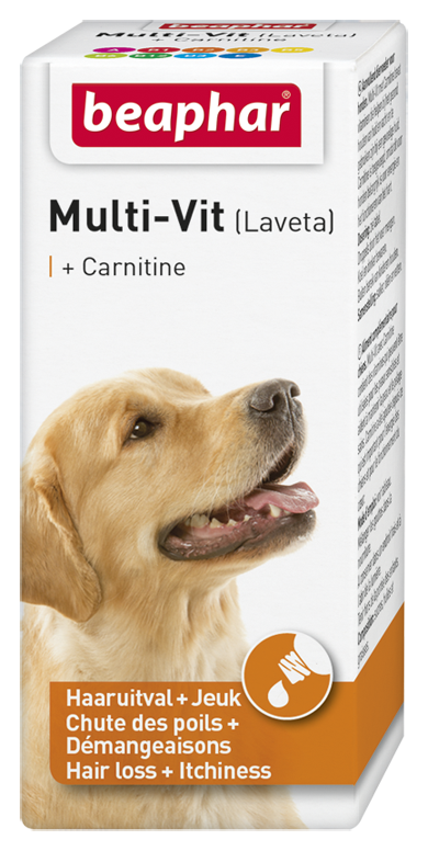 Beaphar Multi-Vit hond met carnitine 20 ml