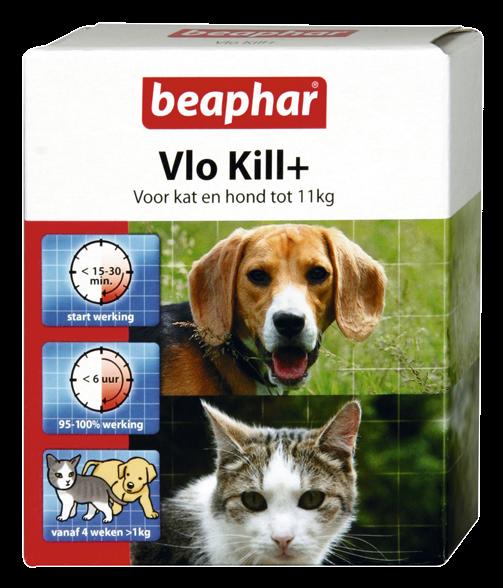Beaphar Vlo Kill+ kat en hond tot 11 kg 6 st