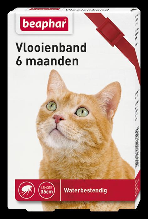 Beaphar Vlooienband kat rood 1 st