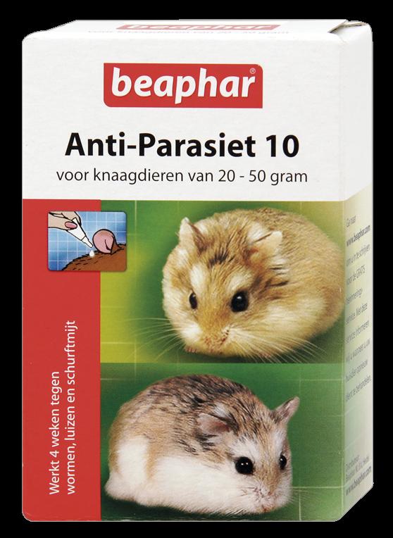 Beaphar Anti-Parasiet 10 knaagdieren van <br>20-50 gr