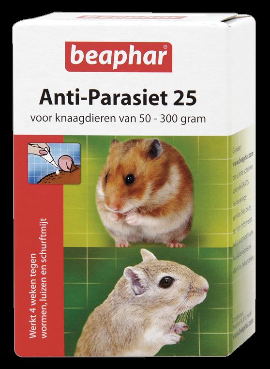Beaphar Anti-Parasiet 25 knaagdieren van <br>50-300 gr