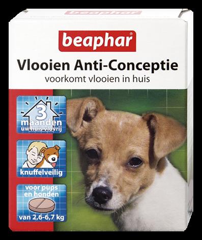 Beaphar Vlooien Anti-Conceptie hond 2,6 tot 6,7 kg 3 tabletten