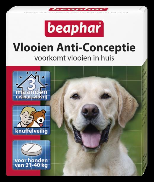 Beaphar Vlooien Anti-Conceptie hond vanaf 21 kg 3 tabletten