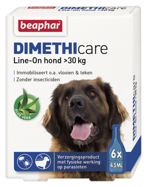 Dimethicare Line-on hond >30 kg 6 pipetten