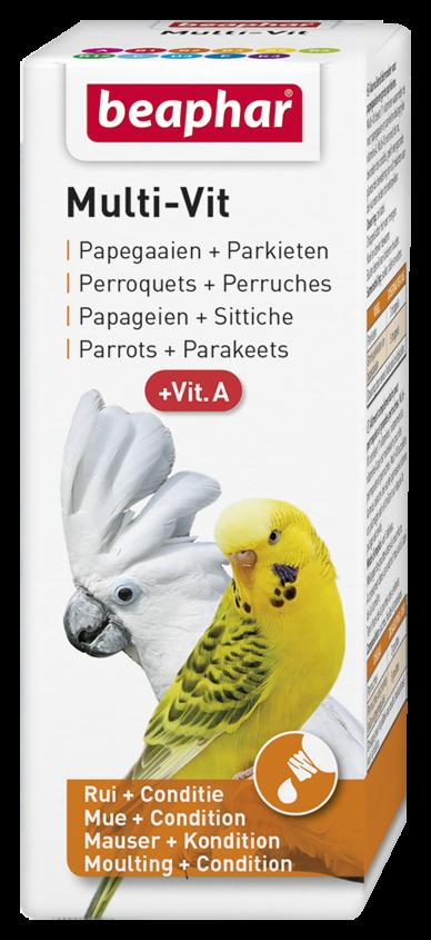Beaphar Multi-Vit papegaaien + grote parkieten 50 ml