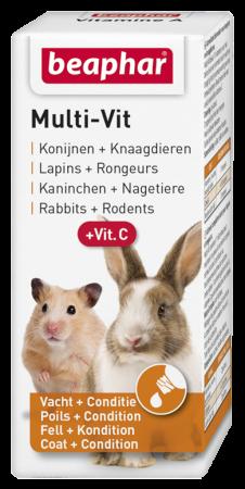 Beaphar Multi-Vit konijnen + knaagdieren 20 ml