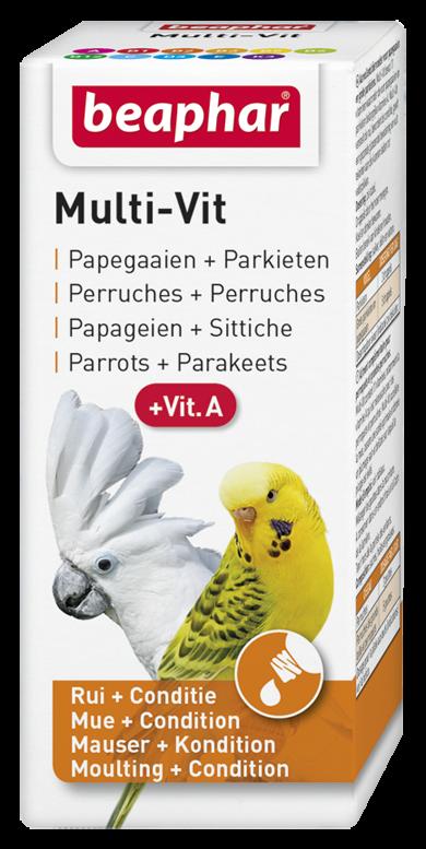 Beaphar Multi-Vit papegaaien + grote parkieten 20 ml